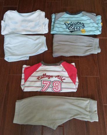 piżamki coccodrillo 3 sztuki w rozmiarze 80