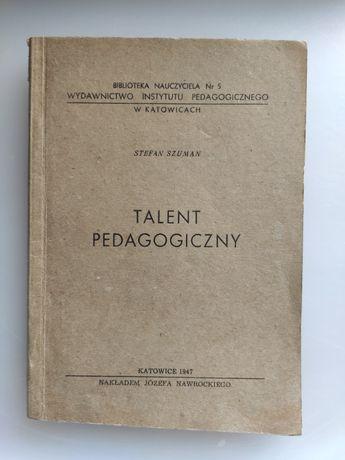 Talent pedagogiczny Stefan Szuman 1947 stan idealny
