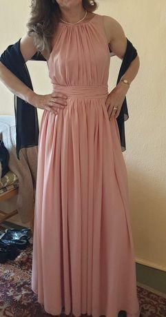 Piękna łososiowa sukienka na wesele