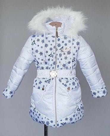 Зимнее пальто на девочку,р.140. Новое.