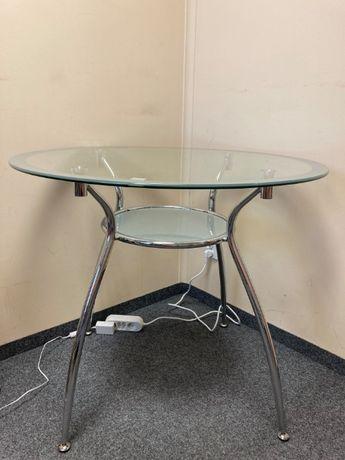 Stół szklany, okrągły 90cm w bardzo dobrym stanie