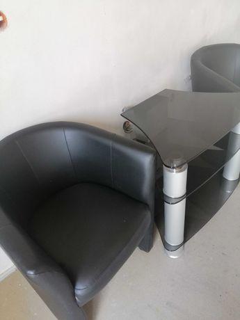 Ława, fotele, stolik