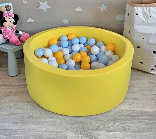 Детский мягкий сухой бассейн с шариками. Шарики идут в комплекте