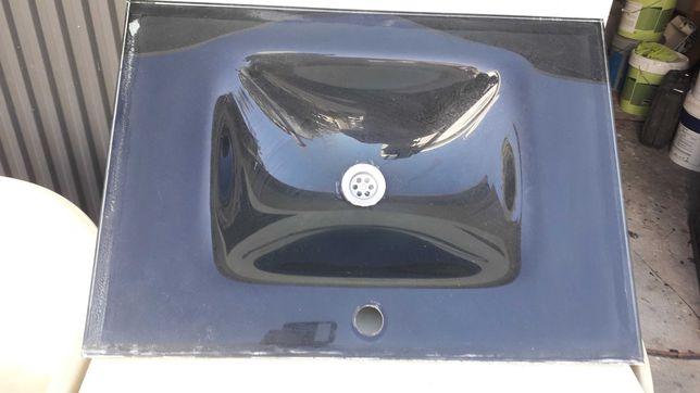 Vendo para desocupar lavatório em vidro preto impecável
