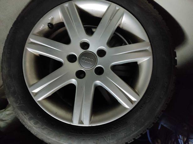 Koła alufelgi Audi z oponami Dunlop- zimowe