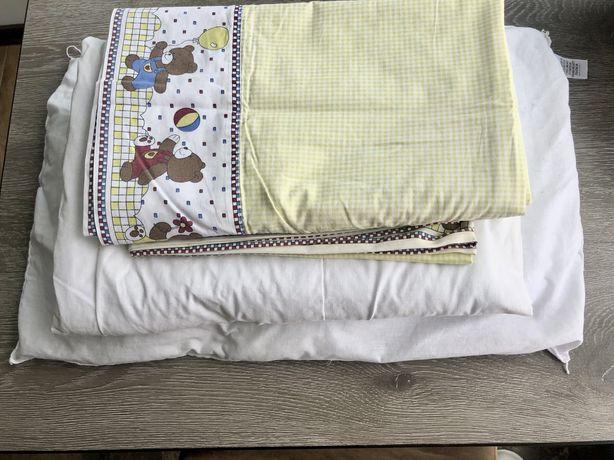 Детский комплект постельного белья, одеяло,подушка,
