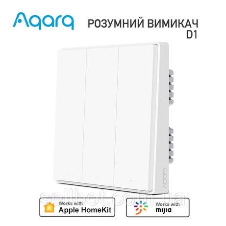 ⫸Розумний вимикач Xiaomi Aqara D1 QBKG26LM HomeKit Smart Switch Смарт