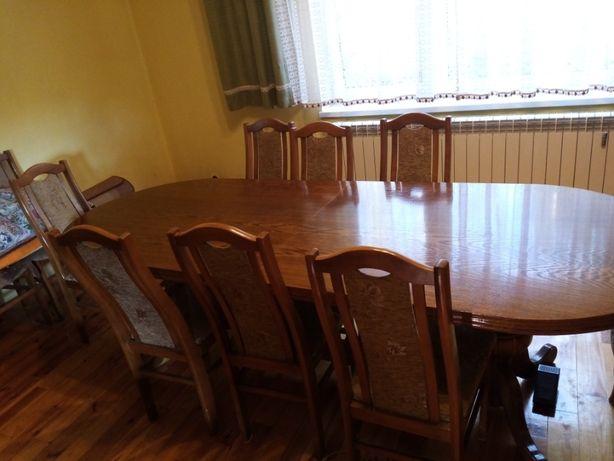 Stół i 12 krzeseł komplet