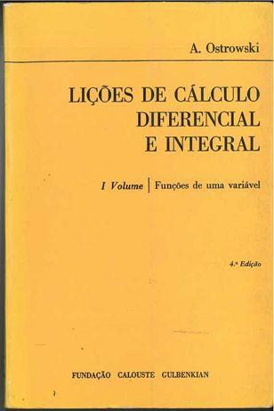 Lições de Calculo Diferencial e Integral - I Volume -  Dezembro 1981