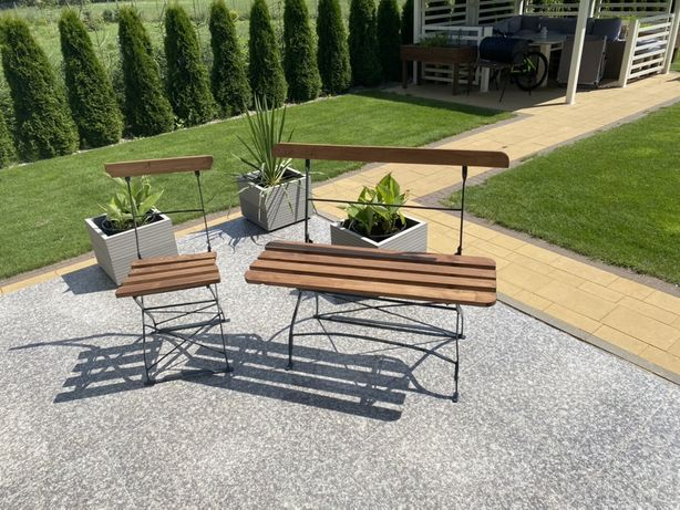 Metalowe meble ogrodowe, z lat 70, odnowione