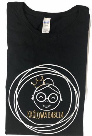 Koszulka z nadrukiem Królowa Babcia