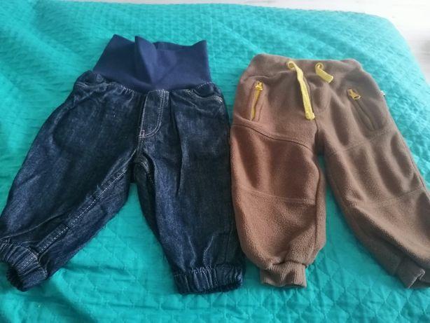 Spodnie 2 pary dla chłopca rozmiar 74