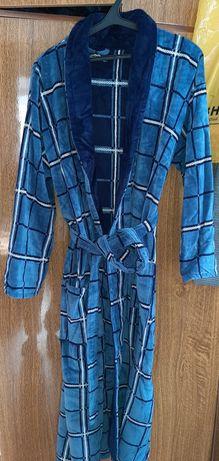 Мужской тёплый домашний халат