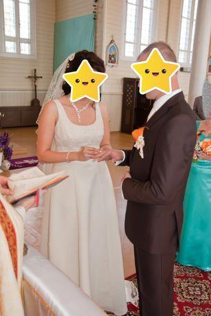 Garnitur ślubny na wzrost 185cm w idealnym stanie