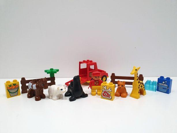 Lego DUPLO zoo, żyrafa, lew, koń, foka, niedźwiedź, auto, klocki