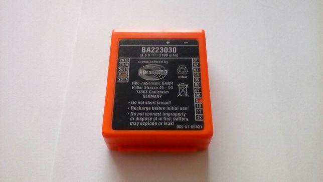bateria akumulator HBC radiomatic BA223030 używana 3,7V 2100mAh orygin