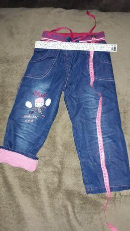Джинсовые тёплые штаны