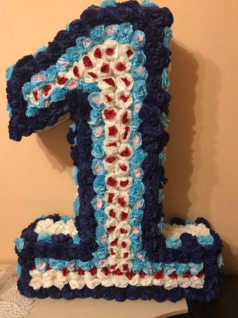 цифра 1 на день народження, один, декор, фотозона