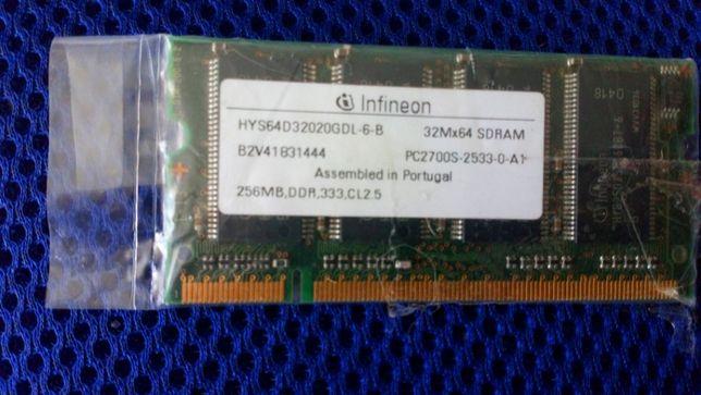 Pamięć RAM SO-DIMM Infineon DDR 256MB 333MHz PC2700
