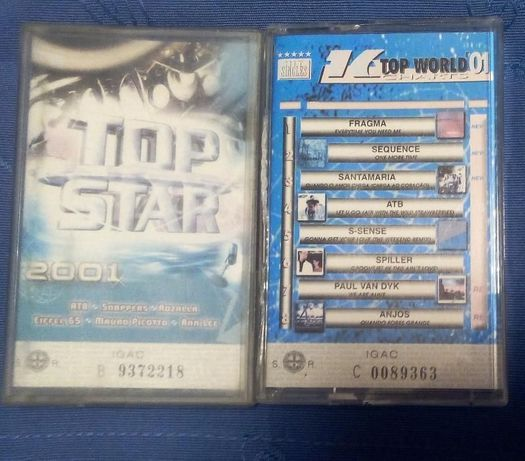 Cassetes Top Star 2001 + 16 Top World Charts 01