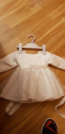 Sukienka chrzest/wesele śliczna, śnieżnobiała