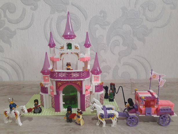 Лего для девочки-замок 271 дет.+карета 137 дет.