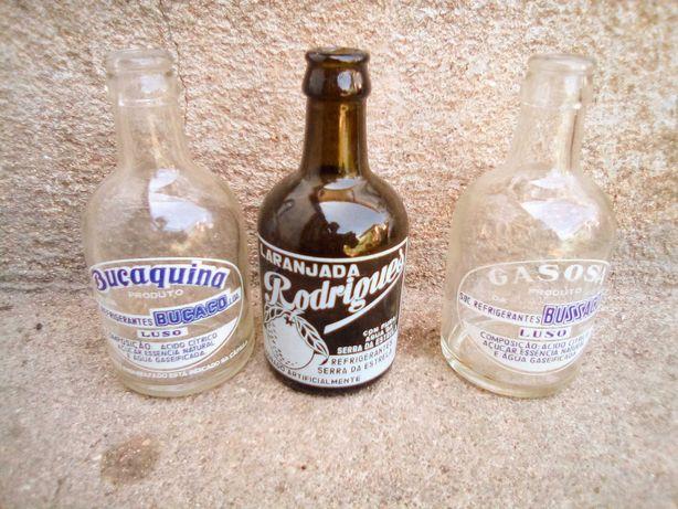 Conjunto de 3 garrafas pirogravadas