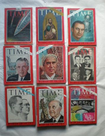 76 revistas Time 1963 a 1974 + 28 revistas antigas