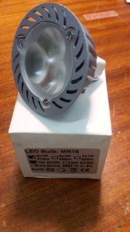 Sprzedam Żarówki LED 12V/3W. Żarówki nowe. Montaż na MR16 , kolor biał