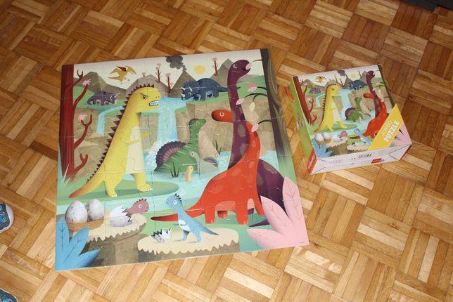 Mudpuppy puzzle Dinozaury JUMBO 25 elementów