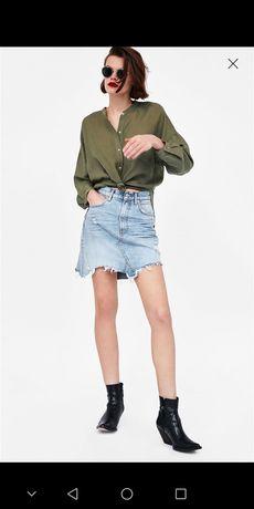 Джинсовая юбка зара