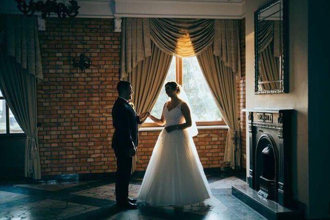 Sprzedam suknię ślubną i welon + GRATISY