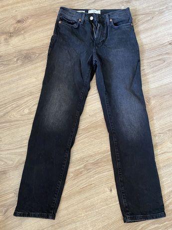 Spodnie dżinsowe mango czarne 36 s gruby dzins