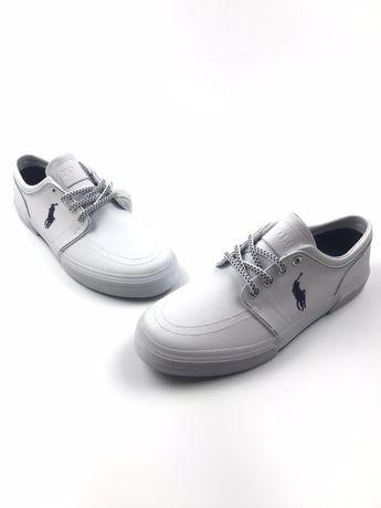 Кожаные кроссовки кеды оригинал белые Ralph lauren nike adidas 43 44