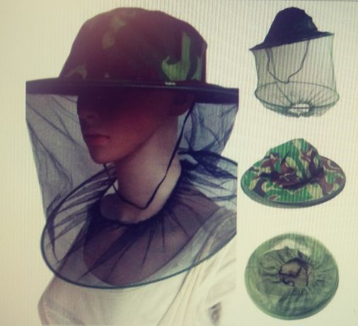 Turystyczny kapelusz z moskitierą