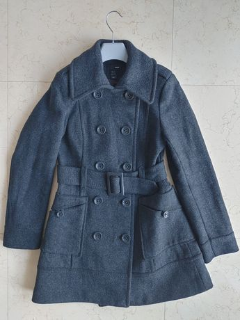 Wełniany płaszcz H&M