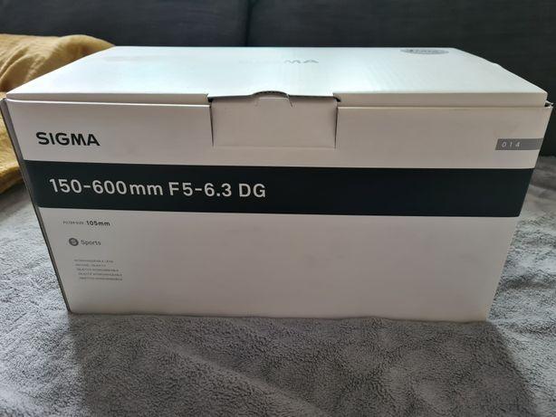 Obiektyw SIGMA 150-600mm F5-6.3 DG/ nieużywany!