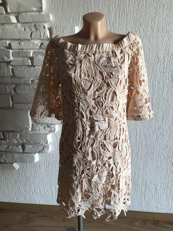 Nowa sukienka rozmiar 40 Zara gruba koronka