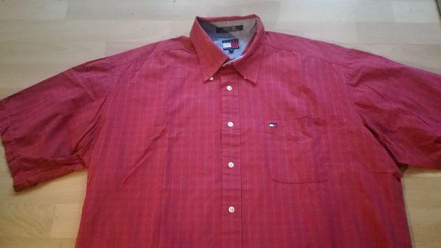 Koszula TOMMY HILFIGER r.XL krótki rękaw stan bardzo dobry