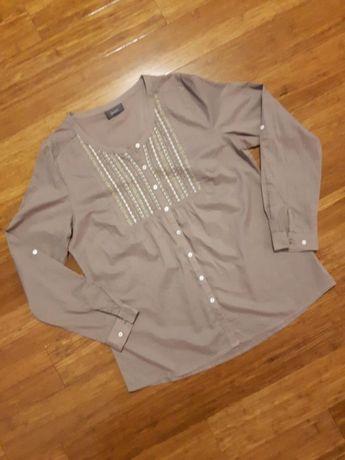 Bluzka koszula tunika ciążowa C&A MAMA khaki jak nowa r. L / XL