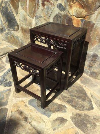 Mesas Chinesas Madeira tamarindo Antigas 46 cm