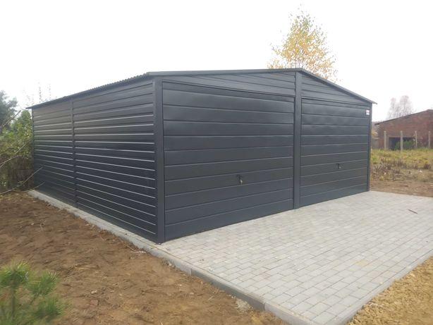 Garaż blaszany 6x5 antracyt 7016 Grajewo
