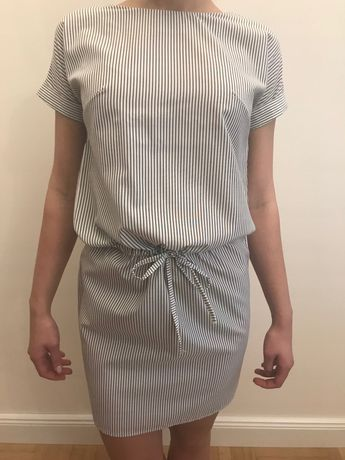 Sukienka forseti xs 34 w paski wiazana