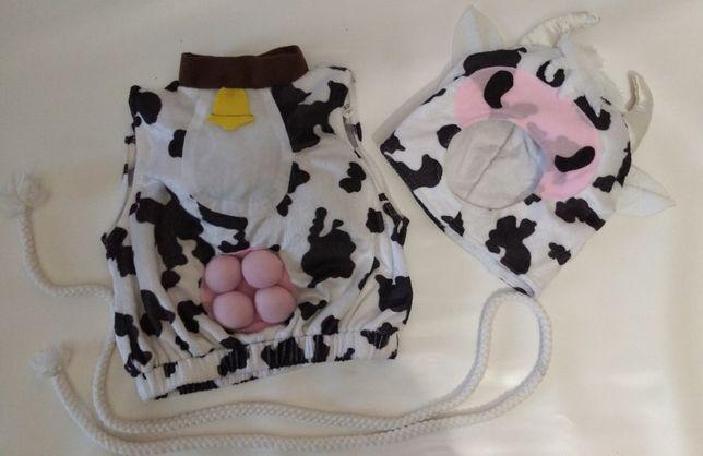 Корова костюм белая пятнистая 1-2 года