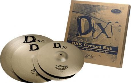 STAGG talerze perkusyjne DXK cymbal set zestaw