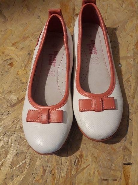 Buty pantofle białe rozm. 34