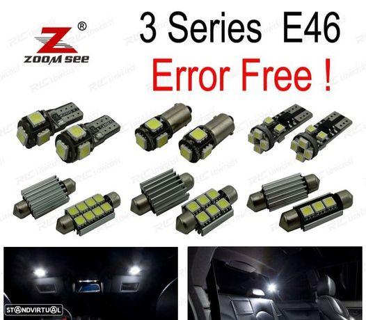 KIT COMPLETO DE 17 LÂMPADAS LED INTERIOR PARA BMW SERIE 3 E46 SEDAN COUPE M3 318I 318TI 323I 323IS