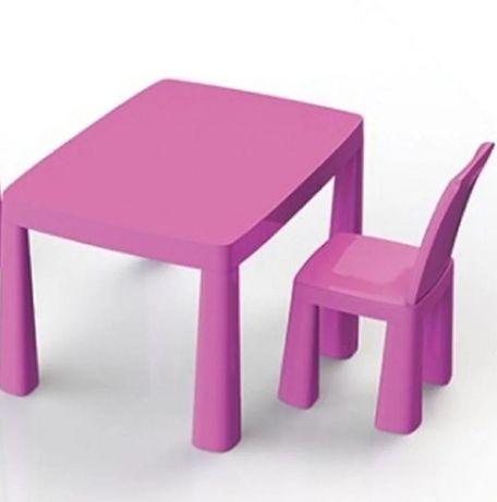 Детский Стол и стул пластиковый +игра Хоккей, столик, столики стульчик