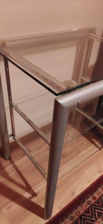 Stolik metal-szkło