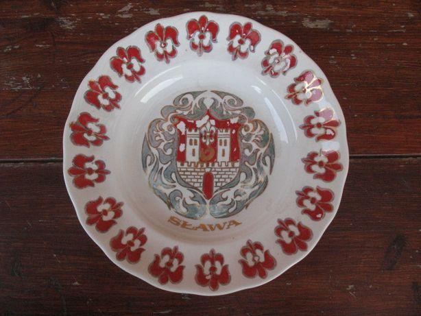 SŁAWA ŚLĄSKA-herb-stary oryginalny pamiątkowy talerz-porcelana